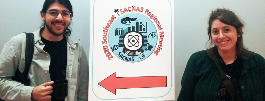Mandy and Raul present their research at the 2020 Southeast SACNAS regional meeting!